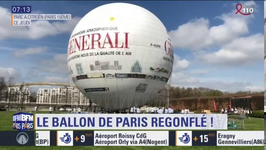 18e8588c92 Le ballon de Paris de retour dans le parc André-Citroën