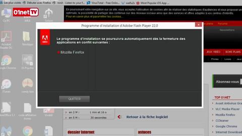 adobe flash player 10.3 gratuit sur 01net