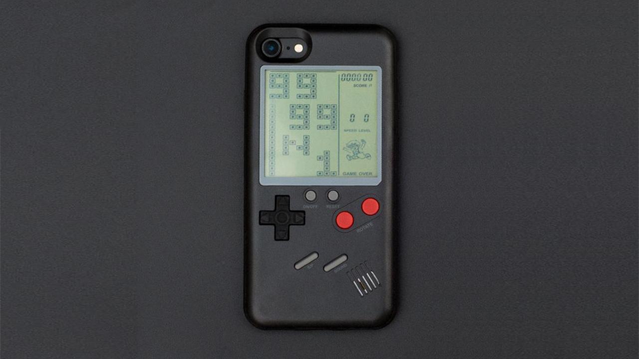 coque iphone x game boy color