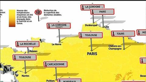 Carte Climat Europe 2050.Climat Decouvrez La Carte De France De 2050