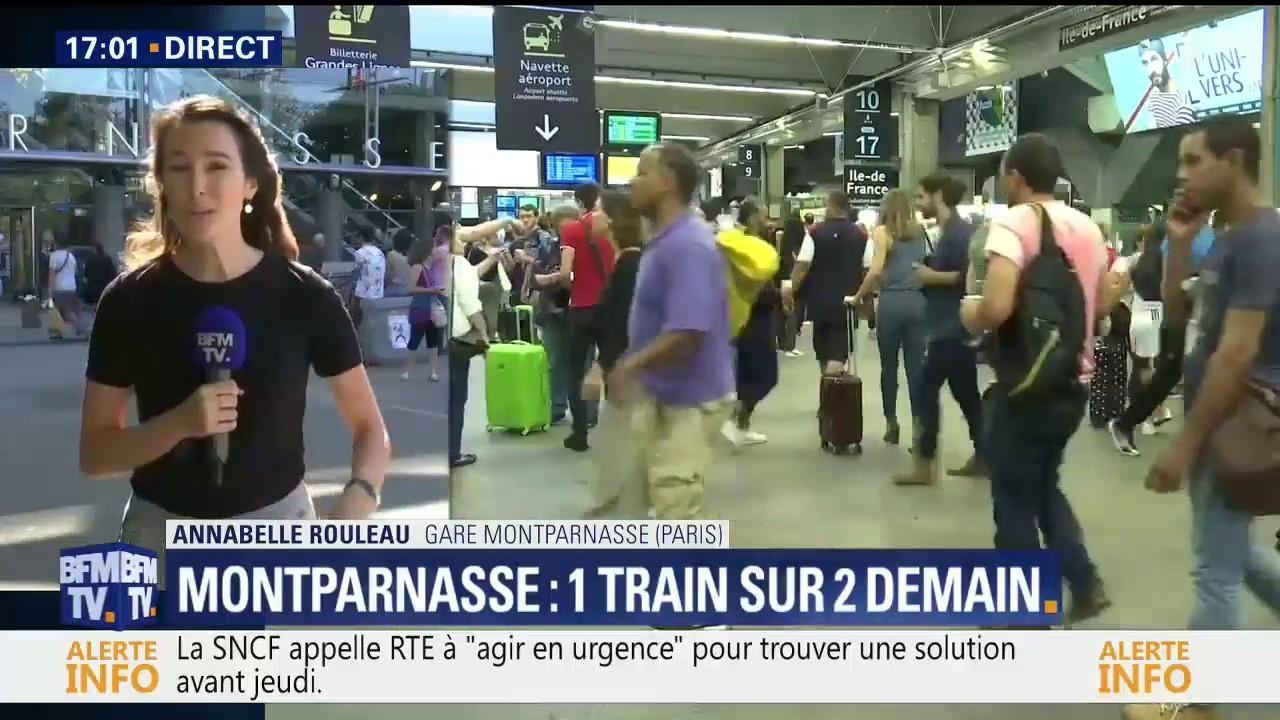 La Sncf Annonce Qu Un Train Sur Deux Circulera Dimanche A Montparnasse