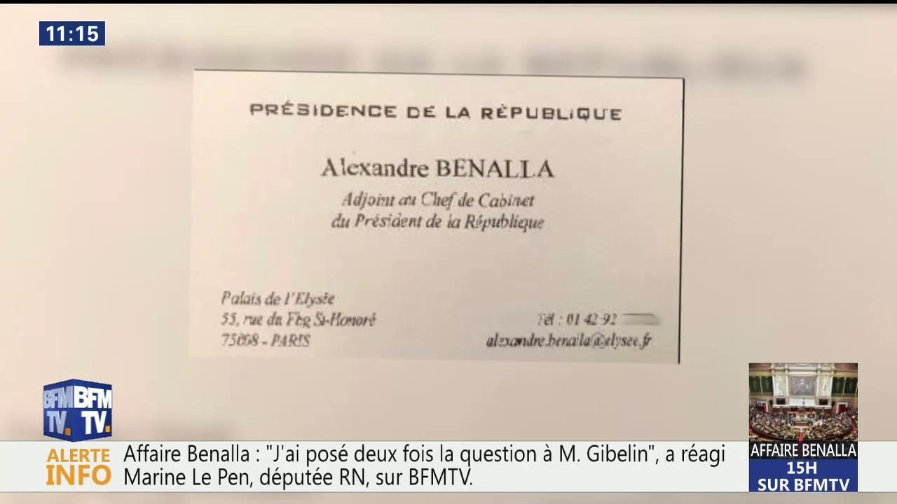 Alexandre Benalla Se Prsentait Dans Une Carte De Visite Avec Un Titre Qui Ntait Pas Le Sien