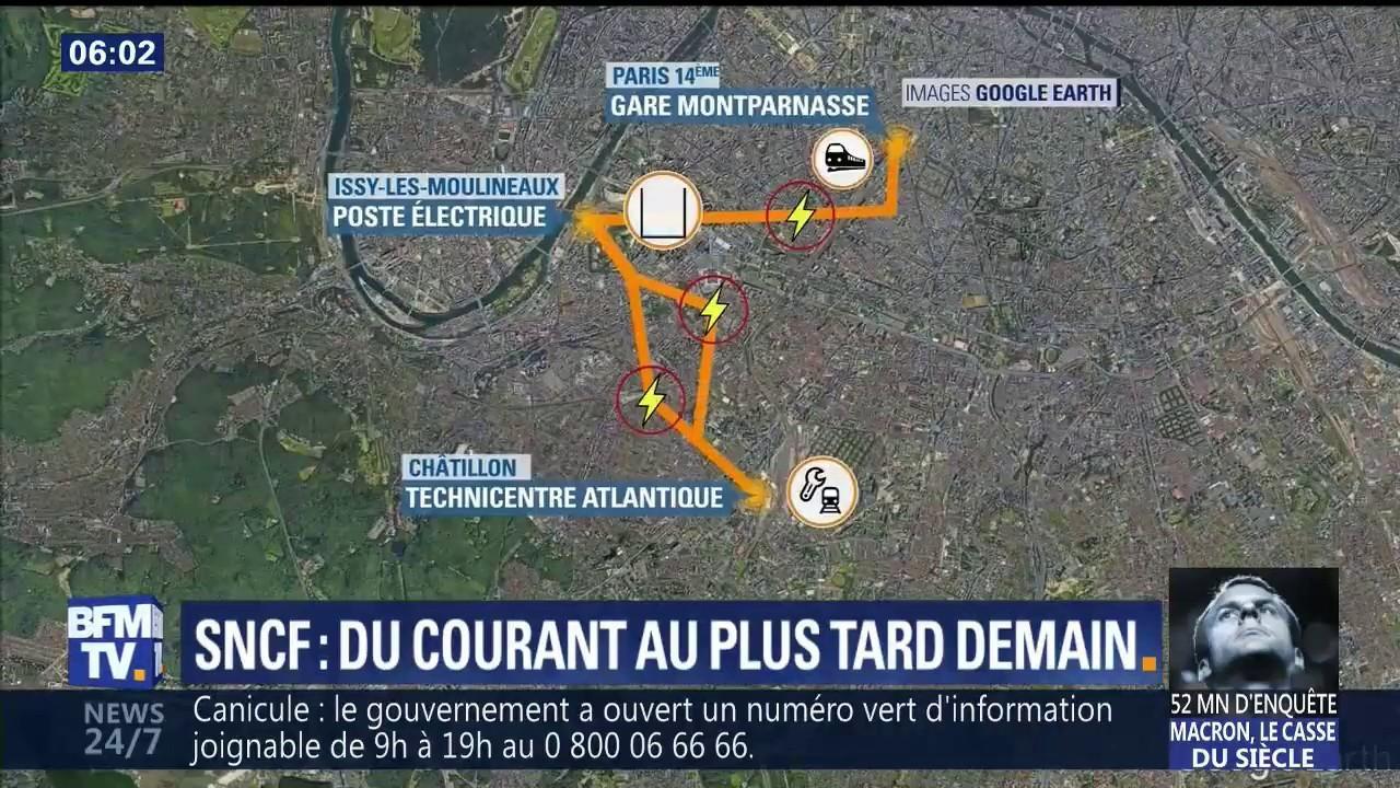 Pourquoi Le Retablissement Du Courant A La Gare Montparnasse Prend