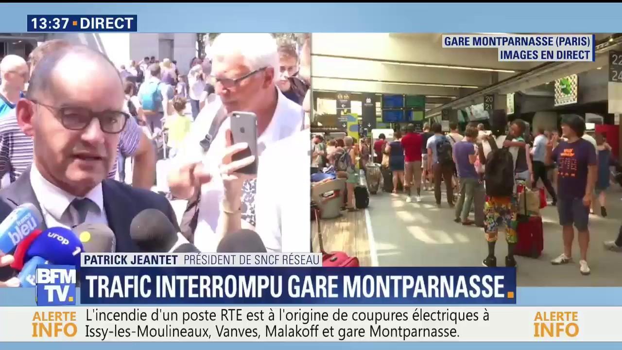 Montparnasse Nous Avons Declenche Le Plan Gare Bloquee Qui